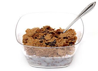 Raisin Bran - A bowl of raisin bran cereal