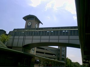 Ramsey Route 17 station - Image: Ramsey Route 17 train station bridge exterior