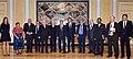 Randa Kassis with the President N. Nazarbayev, former Presidents and Nobel Peace Laureats.jpg