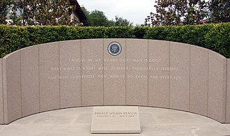 Ronald Reagan Presidential Library - The gravesite of Ronald and Nancy Reagan