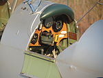 Rear cockpit of the De Havilland Tiger Moth at Coomalie Creek Airfield during the 2012 Merlin Magic.jpg