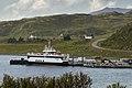 Rebbenesøy ferry at Mikkelvik terminal, Ringvassøya, Troms, Norway, 2014 July.jpg
