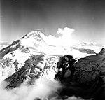 Redoubt Glacier, mountain glacier with bergschrund, August 22, 1968 (GLACIERS 6780).jpg