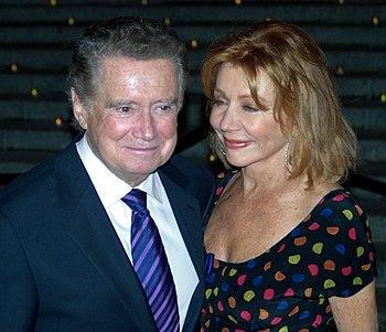 English: Regis Philbin and his wife Joy Philbi...