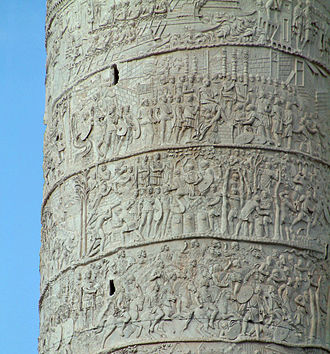 Army - A 2nd-century depiction of Roman soldiers on Trajan's column