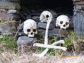 Restos humanos que yacen en el cementerio de colocolo.JPG