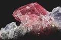 Rhodocrosite, quartz, fluorine violette 3(USA).jpg
