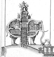 There was a pre-Napoleonic (1758) proposal by Charles Ribart for an elephant-shaped building on the location of the current arch.