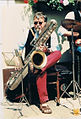 Richard Geier, Bass -Sax PAN-AM (Conn, 14 M- Baureihe), 1993 in Braunschweig.jpg