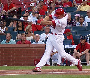 Rick Ankiel - Ankiel batting for the St. Louis Cardinals in 2007