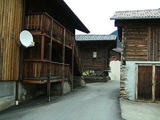 Ried-Brig - Houses in Ried-Brig village