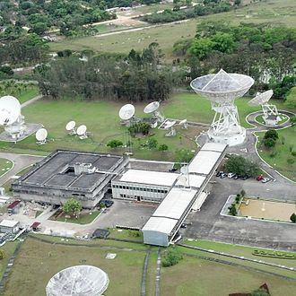 Ground segment - Radio dishes at an Embratel earth station in Tanguá, Brazil