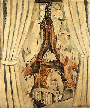 Eiffel Tower (Delaunay series) - Image: Robert Delaunay, Durchblick auf den Eiffelturm, 1910