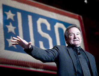 Robin Williams - Williams performing at the 2008 USO World Gala in Washington, D.C. on October 1, 2008