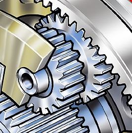Rohloff Speedhub stepped reduction planetary gear series