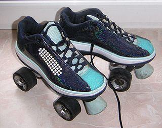 Roller skates Shoe or overshoe with wheels
