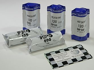 Roll film - Various brands of sealed 120 negative and transparency roll films