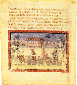 Folio 7 verso du Virgile romain (Ve siècle)
