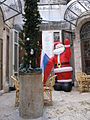 Roman pillar with Christmas tree, arcade of New Imperial Hotel.JPG