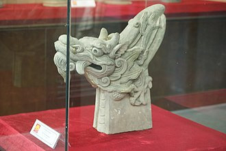 Vietnamese dragon - Mạc dynasty dragon head, stone