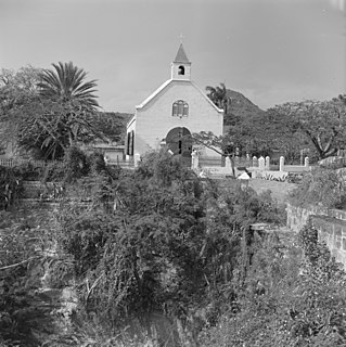 Church in Sint Eustatius, Kingdom of the Netherlands