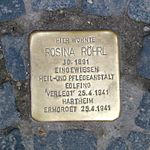 Rosina Röhrl Stolperstein.jpg