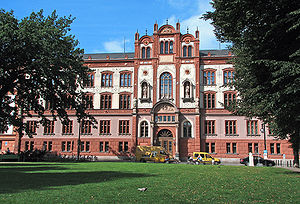 Rostock - Rostock University, one of the world's oldest universities, founded 1419.