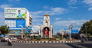 Phuket Province - Surin roundabout in Phuket.