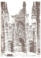 Rouen cathedrale en 1881 pessiot.png