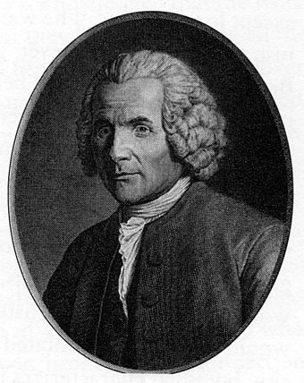 A portrait of Rousseau in later life Rousseau in later life.jpg