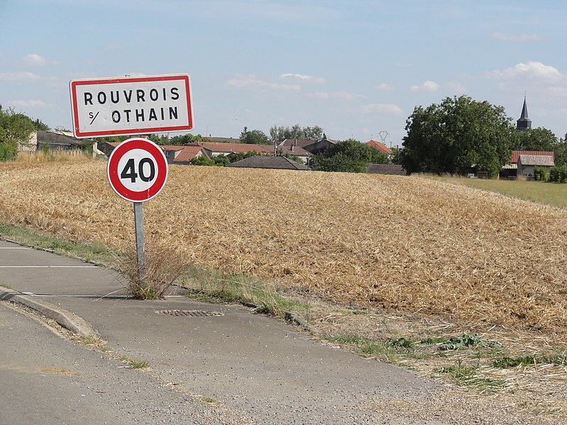 Rouvrois-sur-Othain (Meuse) city limit sign