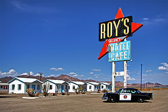 Roy's Motel and Café - Roy's Motel and Café in Amboy, California on U.S. Route 66 in California in the Mojave Desert, in 2012