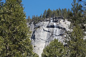 Royal Arch Cascade - The Royal Arch Cascade viewed from the Ahwahnee Bridge.