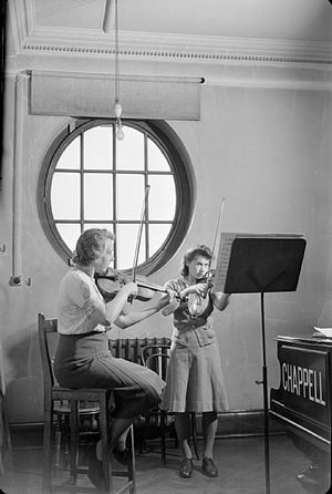 Royal Academy of Music - A violin lesson in 1944
