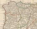 Royaumes d'Espagne et de Portugal 1780 Rigobert Bonne (detalle noroeste).jpg