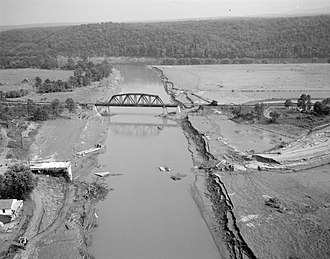 Norwood, Nelson County, Virginia - Flood damage along the Tye River near Norwood in the aftermath of Hurricane Camille