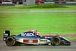 Rubens Barrichello - Jordan 193 at the 1993 British Grand Prix (32873446423).jpg