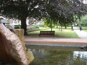 Rubislaw and Queens Terrace Gardens - Pink Granite Fountain in the Centre of the Park