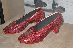 The original Ruby slippers used in The Wizard ...