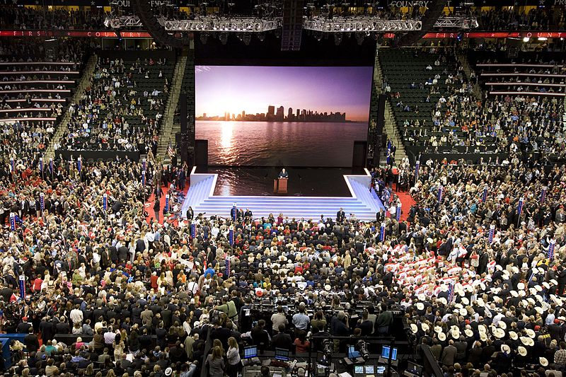Rudy Giuliani, Former Republican Presidential candidate and Mayor of New York, at the podium in the Xcel Center, St. Paul, Minnesota LCCN2010719271.jpg