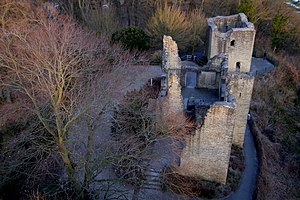 Sigiburg - Ruin of Hohensyburg castle, on the site of the Sigiburg