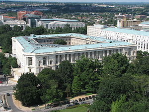 Russell Senate Office Building - View of Russell from United States Capitol dome