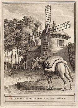 Ryland-Oudry-La Fontaine-Le mulet se ventant de sa généalogie.jpg