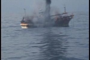 File:Ryou-Un Maru sinking off Alaska 2012.ogv