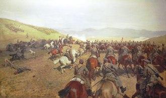Serbo-Bulgarian War - Image: S b war painting by Antoni Piotrowski