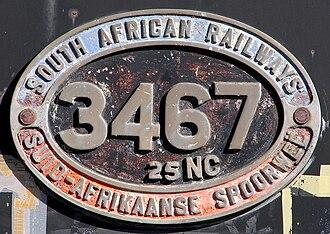 South African Class 25NC 4-8-4 - Image: SAR Class 25NC 3467 (4 8 4) ID