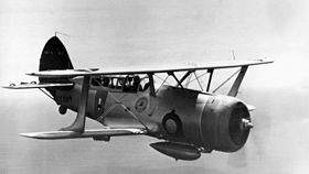 Un Curtiss SBC Helldiver in volo