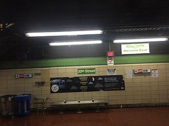 30th Street station (subway) - Image: SEPTA30th St 2017 trolley