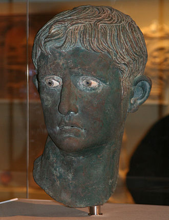 Early life of Augustus - The Meroë Head of Augustus, bronze Roman portraiture bust from Meroë, Kingdom of Kush (Nubia, modern Sudan), 27-25 BC