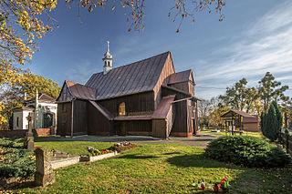 Church in Miejsce Odrzańskie, Poland